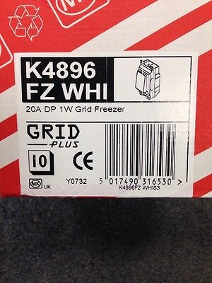 MK ELECTRIC Grid Module 20A DP 1 way Grid Freezer (K4896WM WHI) (148)