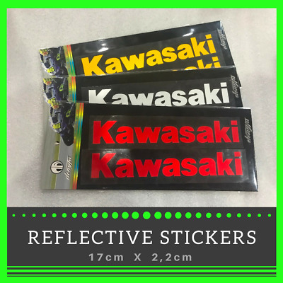 KAWASAKI Reflective Sticker KX ZX10R ZX6R Z1000 Ninja Decal Wheel Tank stickers