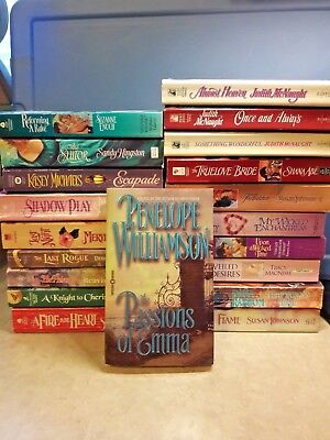 Lot of 20 Historical Romance Paperback Novels Books various authors