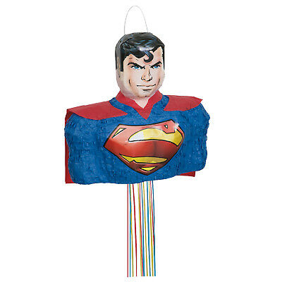 DC Comics Superman | Superhero | Red Cape | Birthday | Party Pull String Pinata