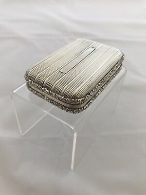 Silver Georgian Snuff Box Possibly Scottish Provincial