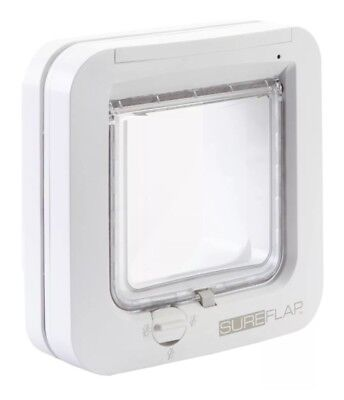 SureFlap Microchip Cat Flap White SUR001 up to 32 Identities 3 Year Warranty