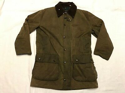 Barbour Northumbria Oilskin Cowboy Duster Drover Trench Coat (Size M) (J10)