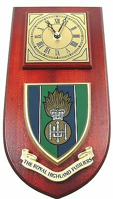 Royal Highland Fusiliers Classic Style Hand Made To Order  Wall Clock