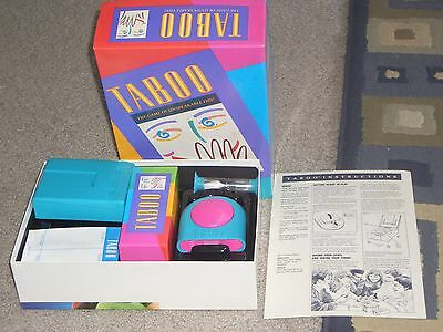 Vintage Milton Bradley 1989 Taboo Board Game - New, Complete With Rules!