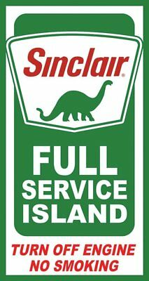 Sinclair Island Service Tin Sign 9 x 16in
