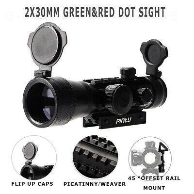 4-12X50EG Rangefinder Rifle Scope  w/Red LaserSight and Reflex Dot Sight Hunting