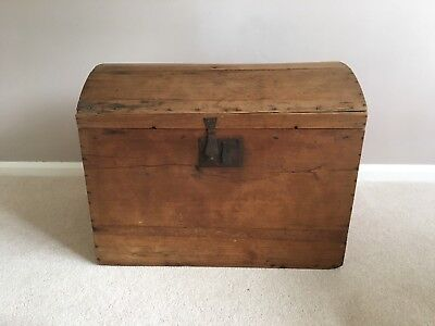 victorian Domed Pine Trunk