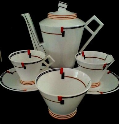 foley china art deco coffee set for 2