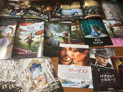 Johnny Depp Rare Japanese Chirashi Posters & Film Leaflet Set - 19 Items!