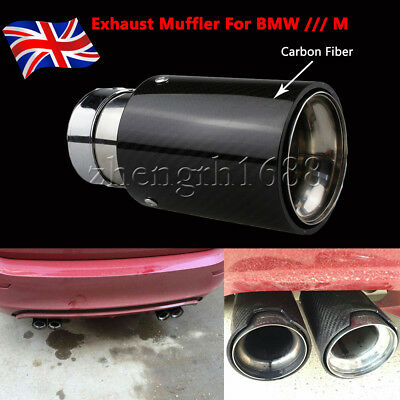 1PC Universal Exhaust Muffler Silencer Pipe Tip For BMW /// M Carbon Fiber  UK