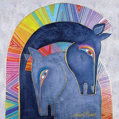 """Westland Giftware Canvas Wall Art, Embracing Horses, 15 by 15"""""""