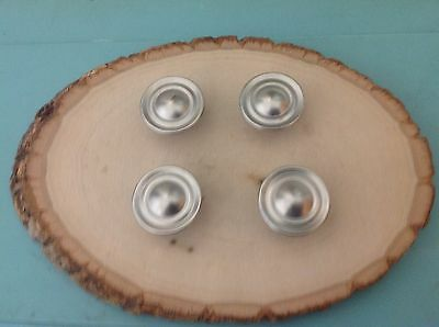 417 Vintage Round  Retro  Knobs , Looks Like Stainless Steel Set Of 4