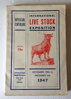 1947 International Live Stock Exposition- Union Stock Yards- Chicago