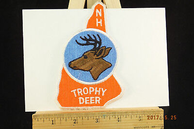 New Hampshire Deer Trophy Buck Hunting NH State Souvenir Embroidered Patch
