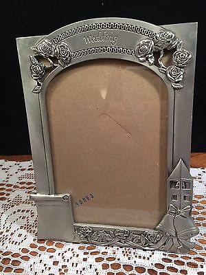 Seagull Pewter Wedding Picture Frame 2001 Etain Zinn Pf 10026