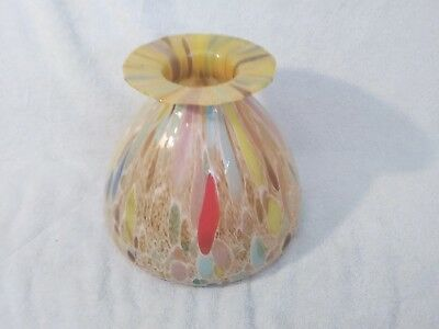 LARGE Vintage MId-Century GORGEOUS OLD MURANO GILT INFUSED Millefiori Glass Vase