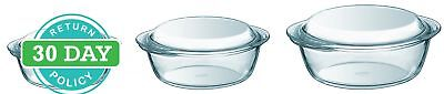 BRAND NEW Pyrex 3-Piece Borosilicate Glass Casserole Set Cooking/Dining FREE P
