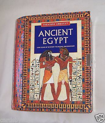 Rare Vintage Ancient Egypt Treasure Chests Book Games Kit More No Key or Stamps