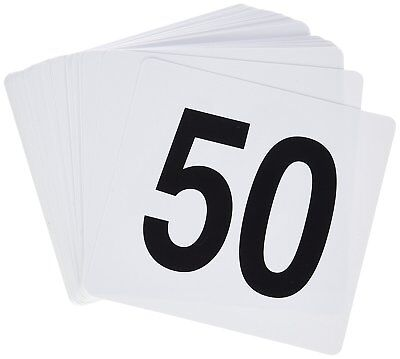 Winco TBN-50 1-50 Plastic Table Numbers
