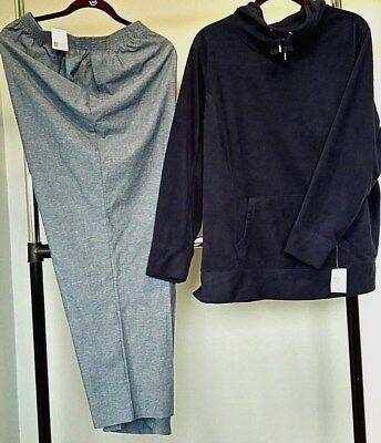 NWT Style and Co. Buttery Soft Hoodie & Alfred Dunner Pants SIZE 2X  MSRP. $95