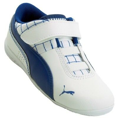 Puma Driftcat 6 Blue White Leather Kids Shoes NO REFUNDS New In Box