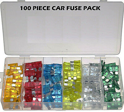 Assorted Car Fuse Pack 120 Piece 5A-30A AMP Fuses Standard Blades Van Truck U276