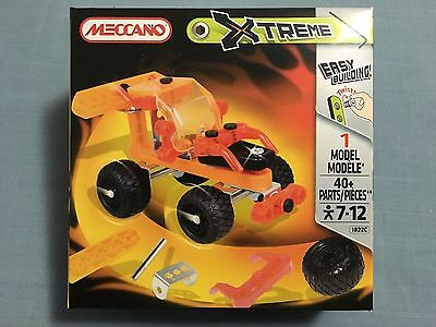 Meccano Xtreme 1822C 1 Model 40 Pieces New Sealed