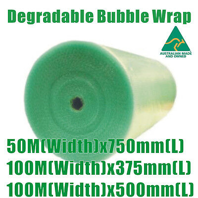 Degradable Green Bubble Wrap Width -375mm / 500mm / 750mm  Length- 50M /100M