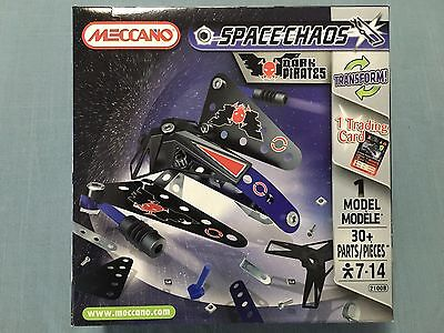 Meccano Dark Pirates 2100B 1 Model 30 Pieces 1 Trading Card New Sealed