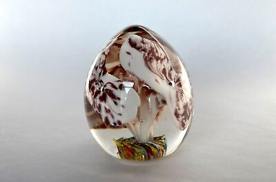Early to Mid 20th Century Midwestern Style Art Glass Egg Shaped Paperweight