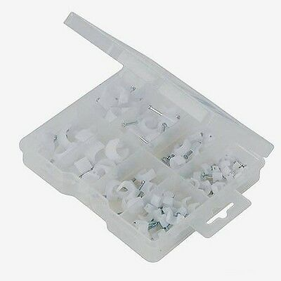 Brand New Cable Clips Pack 86Pce Assorted Sizes 5 - 12 Mm Home Diy Tools P315