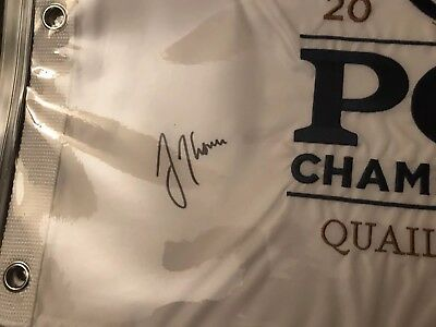 Justin Thomas Autographed 2017 embroidered Player's Championship Flag