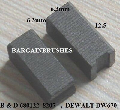 Pair of Replacement Carbon Brushes for DeWalt 949646.01