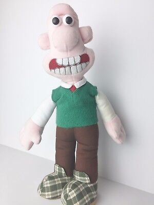 Vintage 1989 Wallace & Gromit Wallace Stuffed Doll Toy
