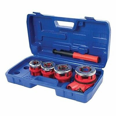 Pipe Threading Kit 5 Pce Set Plumbing Threader Tools Hand Tool Garage P440