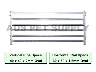 1.1 x 2.2MHeavy Duty Sheep Goat Pig Panel Cattle Yard Fencing 6 Oval 2mm thick M