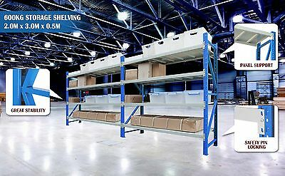 LONGSPAN Shelving Garage Storage Steel Long Span Racks 600kg 2x3x0.5M