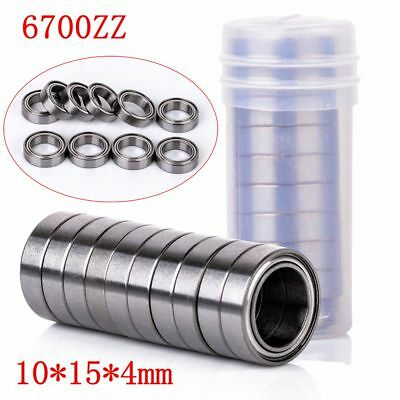 6700ZZ Deep Groove Metal Double Shielded Ball Bearing Thin Wall Roller 10*15*4mm