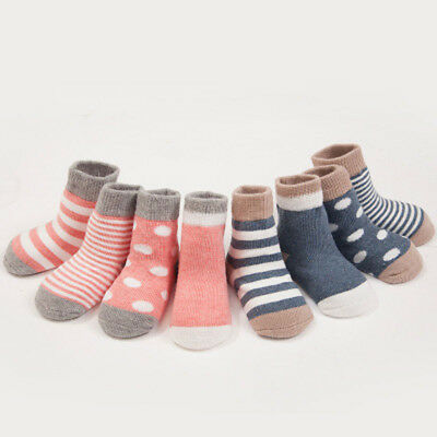 New Baby Soft Cotton Striped Short Socks Boy&Girl Anti Slip Casual Warm Socks