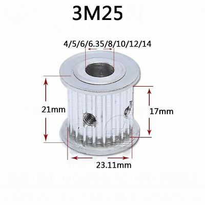 3M 3mm Pitch 25 Teeth Timing Belt Pulley AF-type 17mm Wide 4 to 14mm Bore Select