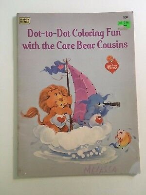 Vintage Care Bear Cousins Coloring Book Dot To Dot American Greetings 1985