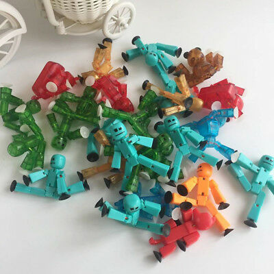 10pc/set Stikbot Sucker Deformable Sticky Move Body Robot Action Figure Toys