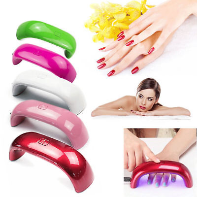 Professional 9W Rainbow UV LED Nail Lamp Dryer Light for Gel Polish Nail Art UK