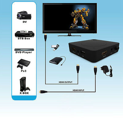 HD HDD USB HDMI TV DVD Blu-ray Capture Box Recorder Game Video For PS4 XBOX Wii