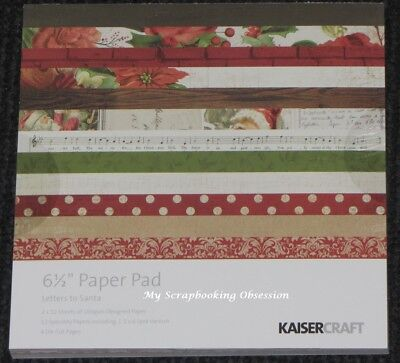 """Kaisercraft 'LETTERS TO SANTA' 6.5"""" Paper Pad Xmas KAISER *Deleted 10 left*"""