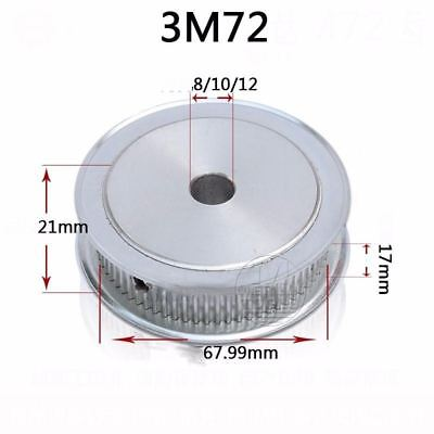 3M 3mm Pitch 72 Teeth Timing Belt Pulley AF-type 17mm Wide 8 to 12mm Bore Select