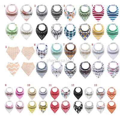 4pcsBaby Kids Bibs Bandana Adjustable Saliva Towel Triangle Burp Head Scarf Sets