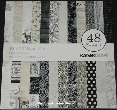 "Kaisercraft 'CHRISTMAS EDITION' 12"" Paper Pad 48 Sheets (24 Designs x2) KAISER"