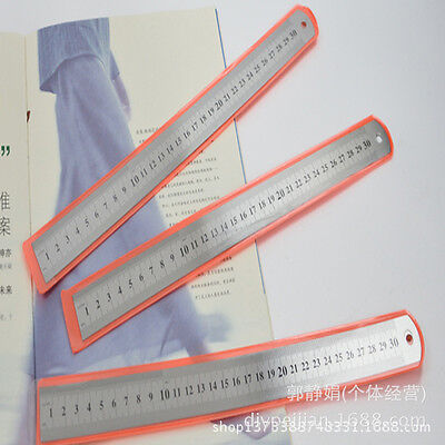 3 pcs stainless steel metal ruler for home tooling or office tooling 15cm 20cm 3